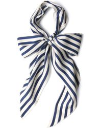 ModCloth | Bow To Stern Scarf in Navy Stripes | Lyst
