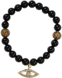 CB Bronfman - Onyx Diamond Bead Bracelet - Lyst