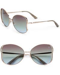 Swarovski | Crystal Wing Detail Sunglasses/Bronze | Lyst