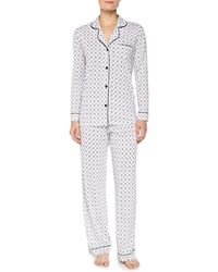 Cosabella Bella Medallion-print Long-sleeve Pajama Set - Lyst