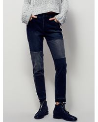 Free People | Womens Jax Patched Skinny | Lyst