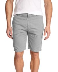 7 For All Mankind Cotton-Linen Chino Shorts gray - Lyst