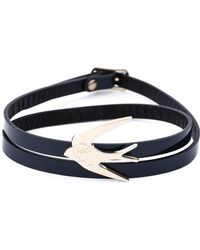 McQ Swallow Triple Wrap Bracelet - Blue