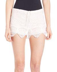 Nightcap - Seashell Lace Shorts - Lyst