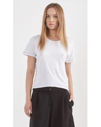 Current/Elliott The Freshman T-Shirt white - Lyst