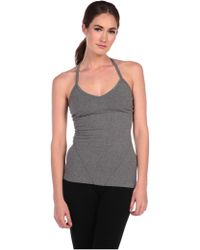 Hard Tail Sport Seamed Halter With Built In Bra gray - Lyst