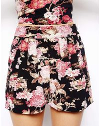 Asos Shorts In Floral Print - Lyst