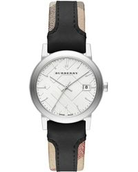 Burberry Ladies The City Mixed Media Watch - Lyst
