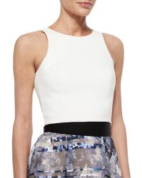Sachin & Babi Noir Back-Cutout Crop Top - Lyst