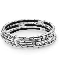 John Hardy Kali Bangle Bracelet Set - Lyst