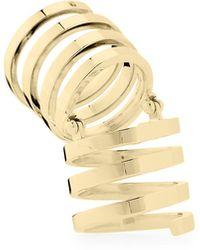 Jennifer Zeuner Celine Fullfinger Ring Gold 6 - Lyst
