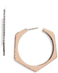 Galleria Armadoro - Polygon Hoop Earrings - Lyst