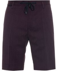 Marc Jacobs - Drawstring Geometric-print Wool Shorts - Lyst