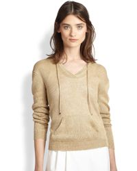Ralph Lauren Black Label Linen Hoodie Sweater - Lyst