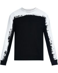 McQ by Alexander McQueen Printed Rubber-Effect Cotton Sweatshirt black - Lyst