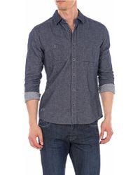 William Rast Twill Flannel Sport Shirt - Lyst
