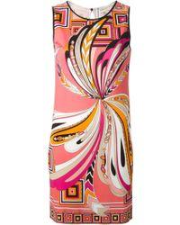 Emilio Pucci Printed Shift Dress - Lyst
