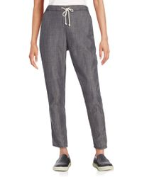 Eileen Fisher - Tencel & Cotton Drawstring Trousers - Lyst