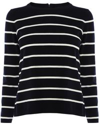 Karen Millen Graphic Stripe Jumper - Lyst