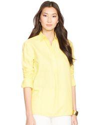 Ralph Lauren Linen Tunic Shirt - Lyst