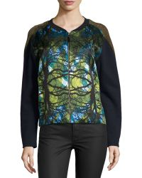 Risto - Puffer Zip-Front Sweater - Lyst