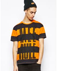 Cheap Monday Stripe Tshirt with Mee Rule Print - Lyst
