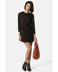 Topshop Overlay Dress - Lyst