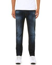 Diesel Thavar Slim-Fit Tapered Denim Jeans - For Men - Lyst