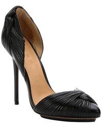 L.A.M.B. Black Leather 'Warner' D'Orsay Stiletto Pumps - Lyst