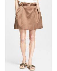 Marc Jacobs Duchesse Satin Skirt brown - Lyst