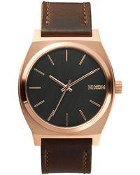 Nixon   Sentry Rose Gold Watch   Lyst
