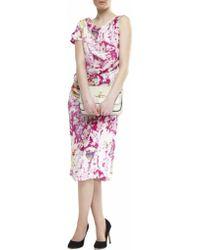 Vivienne Westwood Anglomania Printed Shaman Silk Dress - Lyst