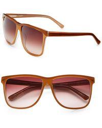 Saks Fifth Avenue - Katy Square Plastic Sunglasses - Lyst