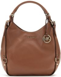 Michael by Michael Kors Brown Leather Tote - Lyst