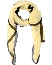 Karl Lagerfeld Stole yellow - Lyst