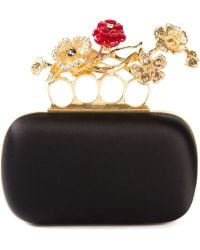 Alexander McQueen 'Knuckle' Floral Oval Box Clutch - Lyst