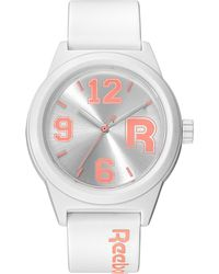 Reebok - Women'S Varsity Coral And White Polyurethane Strap Watch 38Mm Rc-Crv-L2-Pwpw-Wc - Lyst