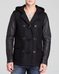 Diesel W-Gulab Mixed Media Toggle Coat - Lyst