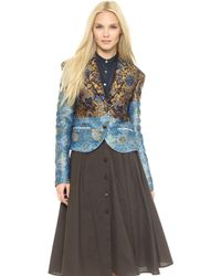 Creatures of the Wind - Crambe Jacket With Butterflies - Mustard Multi - Lyst