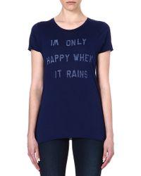 Zoe Karssen Only Happy When It Rains T-shirt - Lyst