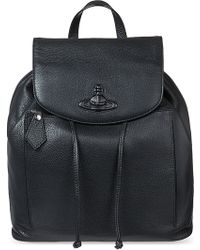 Vivienne Westwood Leather Orb Backpack - Lyst