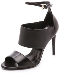 McQ by Alexander McQueen Lily Ankle Strap Sandals - Darkest Black - Lyst