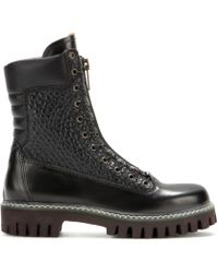 McQ by Alexander McQueen Leather Boots - Lyst