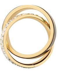 Michael Kors Tort and Baguette Intertwined Ring - Lyst