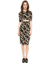 Suno Cutout Dress  Floating Floral - Lyst