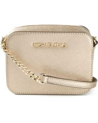 MICHAEL Michael Kors Jet Set Saffiano-leather Cross-body Bag - Lyst