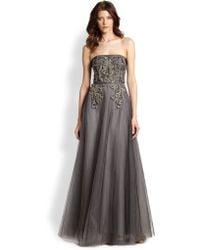 Sachin & Babi Noir Anita Strapless Embellished Tulle Gown - Lyst