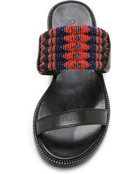 DANNIJO - Nella Toe Ring Sandals - Black - Lyst