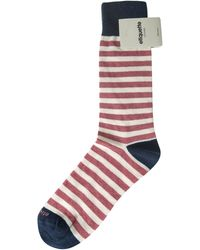 Etiquette Striped Sock pink - Lyst