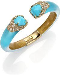 Alexis Bittar Vert D'Eau Lucite, Turquoise & Crystal Cuff Bracelet - Lyst